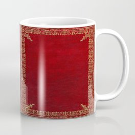 Red and Gilded Gold Book Coffee Mug