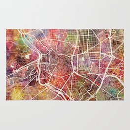 Madrid map Rug
