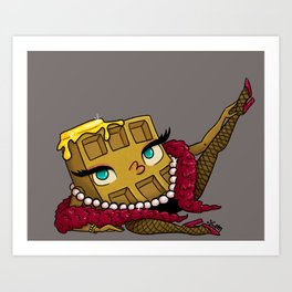 Brothel Waffle Art Print
