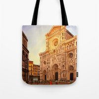 florence Tote Bags featuring Florence by Sara Cooley