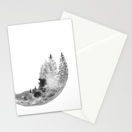 forest on the moon Stationery Cards