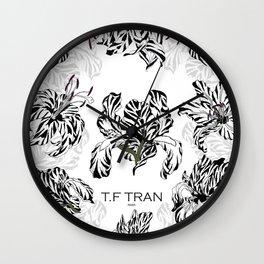 T.F TRAN CLASSIC FLORALS WHITE EDITION Wall Clock