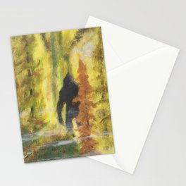 Sasquatch in Fall - aka Blob squatch Stationery Cards