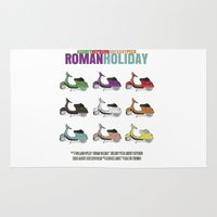 roman Area & Throw Rugs featuring Roman Holiday by FunnyFaceArt