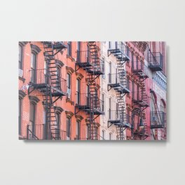 New York Fire Escape. Lower East Side. USA. Metal Print
