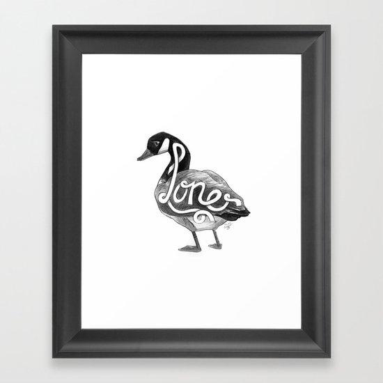 Loner Goose Framed Art Print