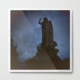 Statue in Forest Hills Cemetery Metal Print
