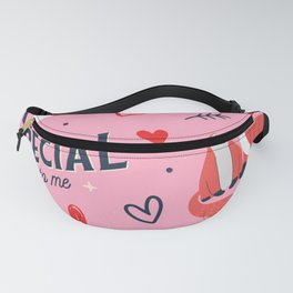 You Are Special To Me Love Fox Valentine's Day Fanny Pack