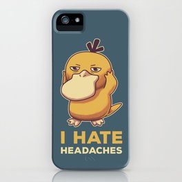 I Hate Headaches iPhone Case