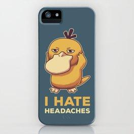 I Hate Headaches iPhone Case