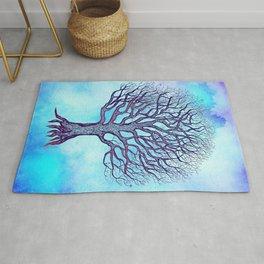 Tree of Life Blue Zen Design Rug