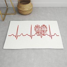 Kindergarten Teacher Heartbeat Rug