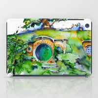 hobbit iPad Cases featuring hobbit hole by Jonny Moochie