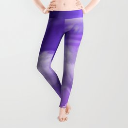 """Violet pastel spring sky with clouds"" Leggings"
