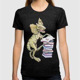 Dilophosaurus Loves Books T-shirt