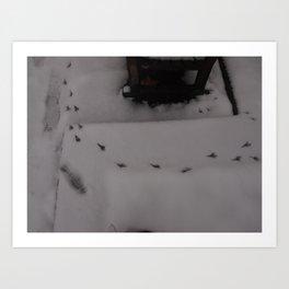 Cold winter - UK Art Print