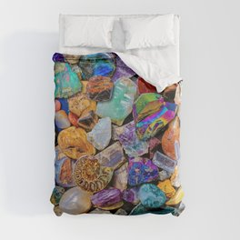 Rocks and Minerals, Geology Duvet Cover