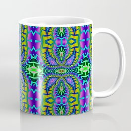 Tribal Rainbow Lotus Coffee Mug
