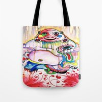 buddah Tote Bags featuring Buddah by TomDaly
