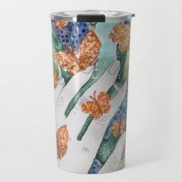 abstract whimsical nature art Travel Mug