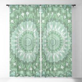 Emerald Green Mandala Sheer Curtain