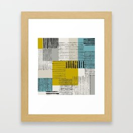 Patch Style Framed Art Print