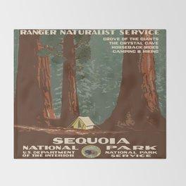 Vintage poster - Sequoia National ParkX Throw Blanket