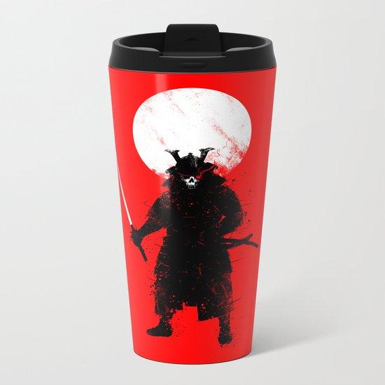 Ghost Samurai Metal Travel Mug