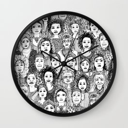 WOMEN OF THE WORLD BW Wall Clock