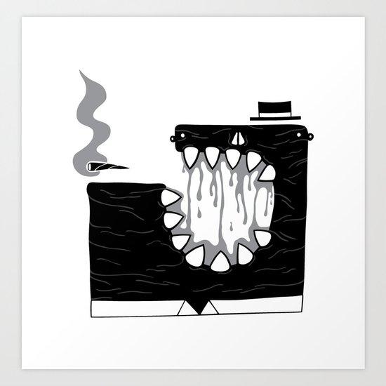 Zombie Boss Art Print