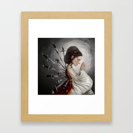 Wounds we can't heal Framed Art Print