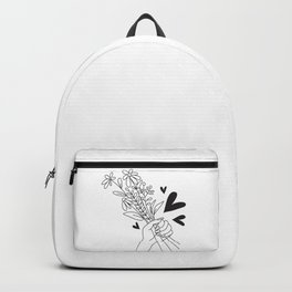 Bouquet of flowers for Valentine's Day Backpack
