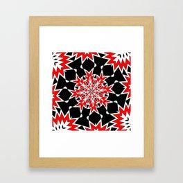 Bizarre Red Black and White Pattern 2 Framed Art Print