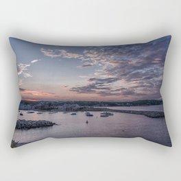 Sunset over Rockport Harbor Rectangular Pillow