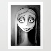 emily rickard Art Prints featuring Emily by Lynsie Petig