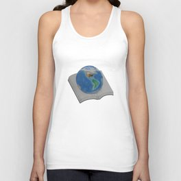 The World in Pages Unisex Tank Top