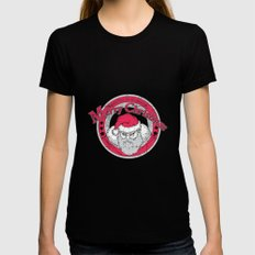 Santa's Apparel SMALL Black Womens Fitted Tee