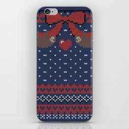A Lazy Winter Sweater iPhone Skin