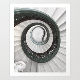 Spiral Staircase at the Peabody II, Baltimore Art Print