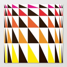 Red Yellow Triangle Pattern Canvas Print