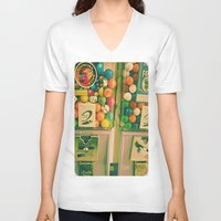gumball V-neck T-shirts featuring goody goody gumball! by helene smith photography