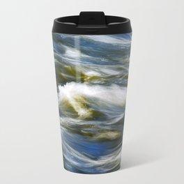 Waves Abstract Travel Mug