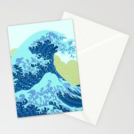 Beautiful Asian Japanese Origami Paper Tidal Wave Pattern Art Stationery Cards