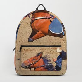 The Saddle Bronc and the Pickup Man - Rodeo Art Backpack