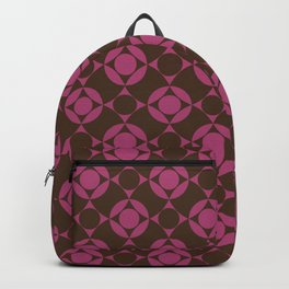 Polka Dots on Wavy Plaid Pattern Backpack