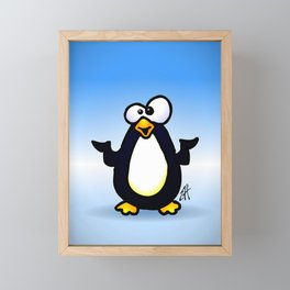 Pondering Penguin Framed Mini Art Print