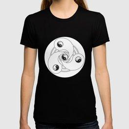 Crop Circle Yin-Yang T-shirt