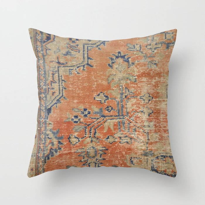 Steel Grey Burnt Orange Midnight Blue Chenille Cushion Cover