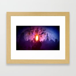 God Gamble Door Tree Framed Art Print