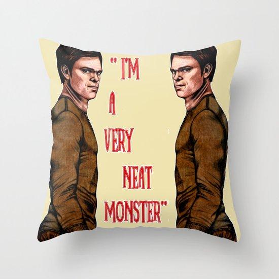 Dexter Morgan  B&W Throw Pillow